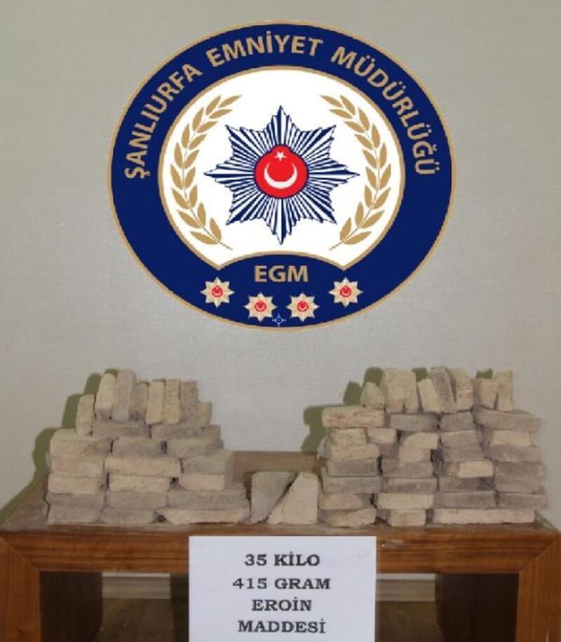 Şanlıurfa'da 35 kilo eroin ele geçirildi, 3 kişi tutuklandı