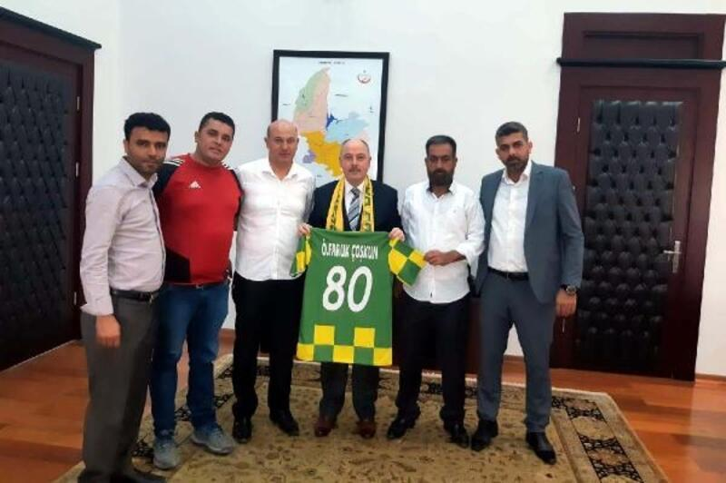 Osmaniyespor Taraftarlar Derneğinden Vali Coşkun'a ziyaret