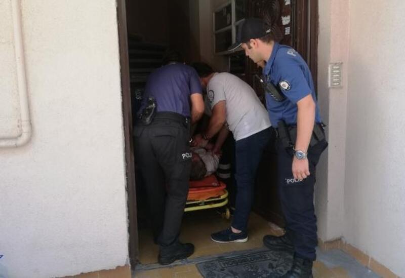 Psikolojik rahatsızlığı olduğu iddia edilen kadın polis ve sağlık ekiplerine zor anlar yaşattı