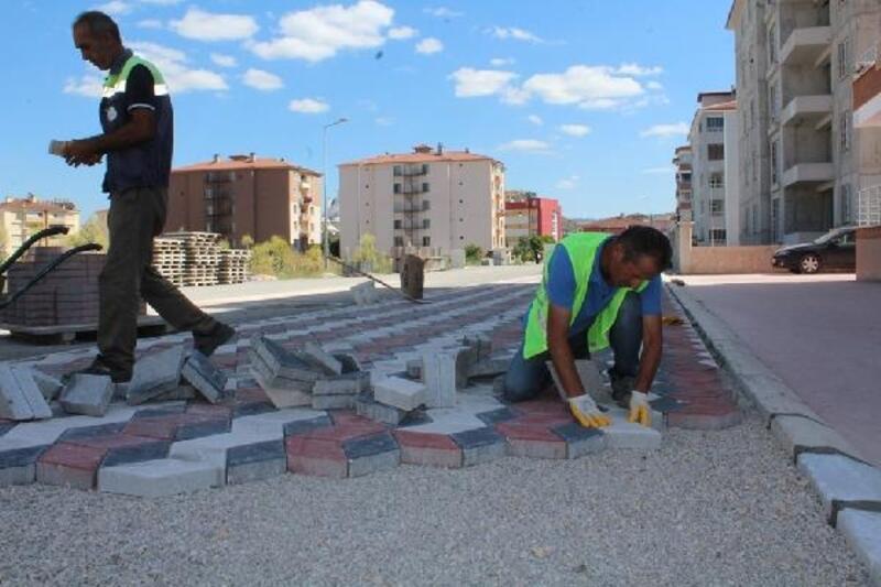 Turhal Belediyesinden kilit parke çalışması