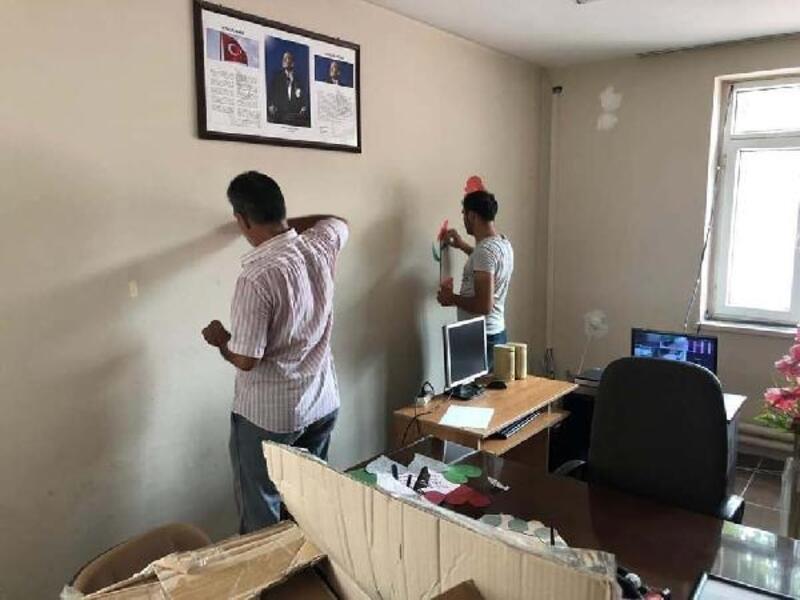 Denetimli serbestlik hükümlüleri okulda tadilat ve boya yaptı