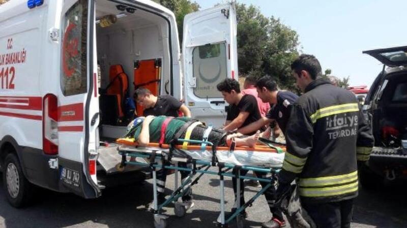 Tepeden yuvarlanan kadın yaralandı