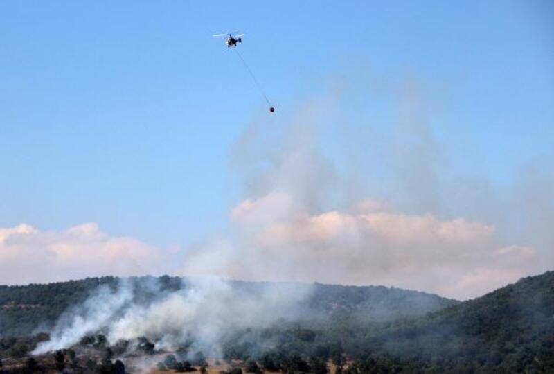 Sandıklı'da 5 hektar meşe alanı yandı
