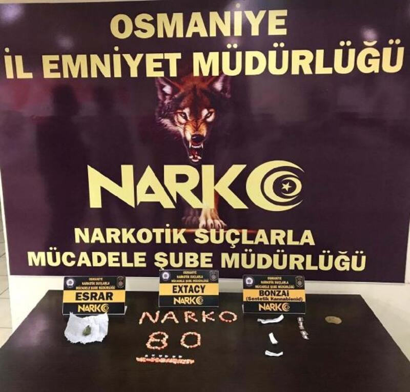 Osmaniye'de uyuşturucu denetim: 5 gözaltı