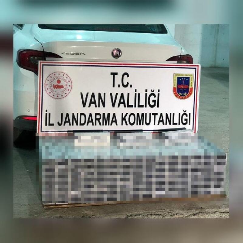 Erciş'te 2 bin 130 paket kaçak sigara ele geçirildi