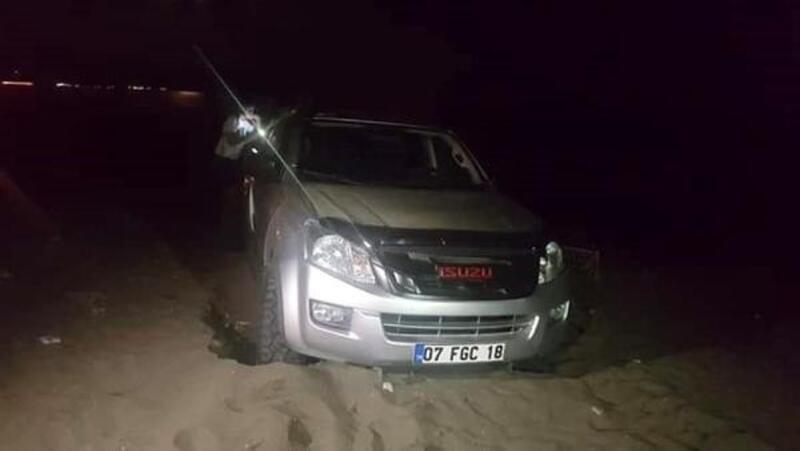 Caretta sahilinde drift yapan sürücüye 60 bin lira ceza