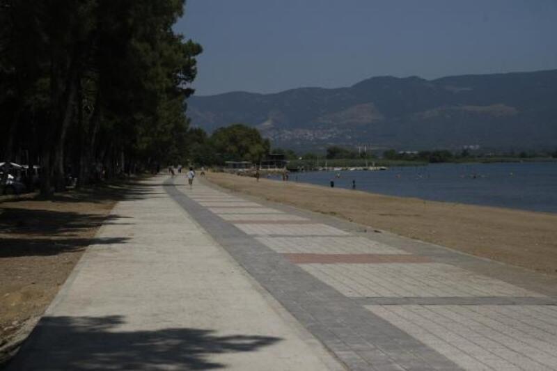 İznik Gölü sahil aydınlatmaları bayram sonrasına kaldı