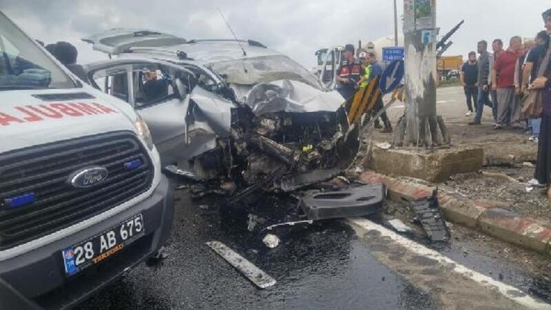 Giresun'da kaza: 3 ölü, 1 yaralı