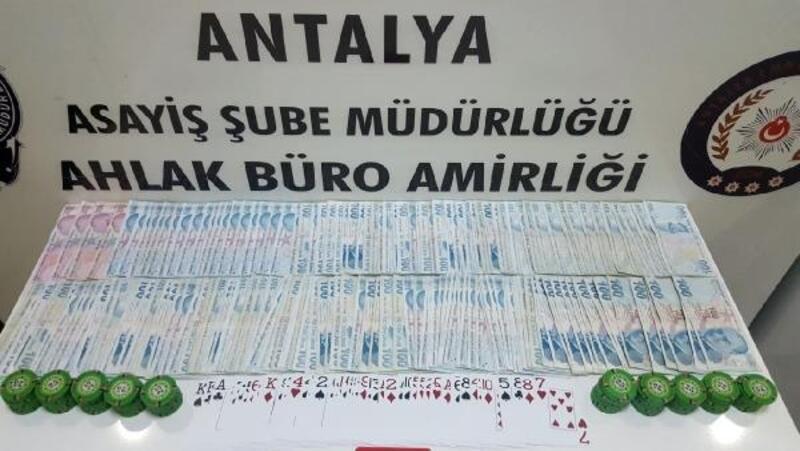Antalya'da kumar baskını