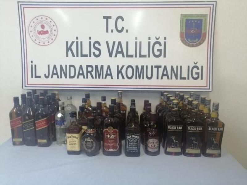 Kilis'te kaçak içkiye 3 gözaltı