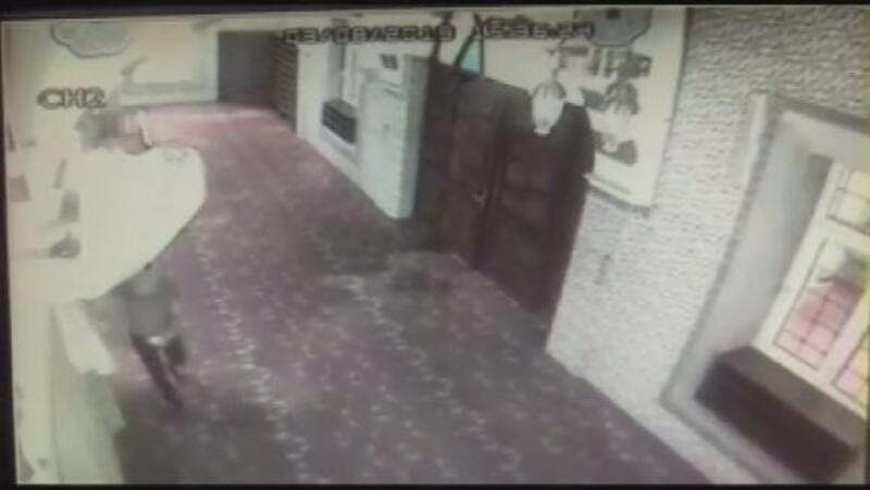 Kağıthane'de caminin kundaklanması kamerada
