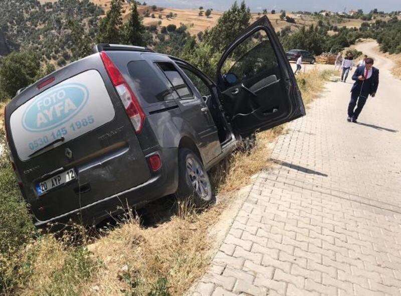 Hafif ticari aracın 150 metrelik uçuruma düşmesini ağaç engelledi