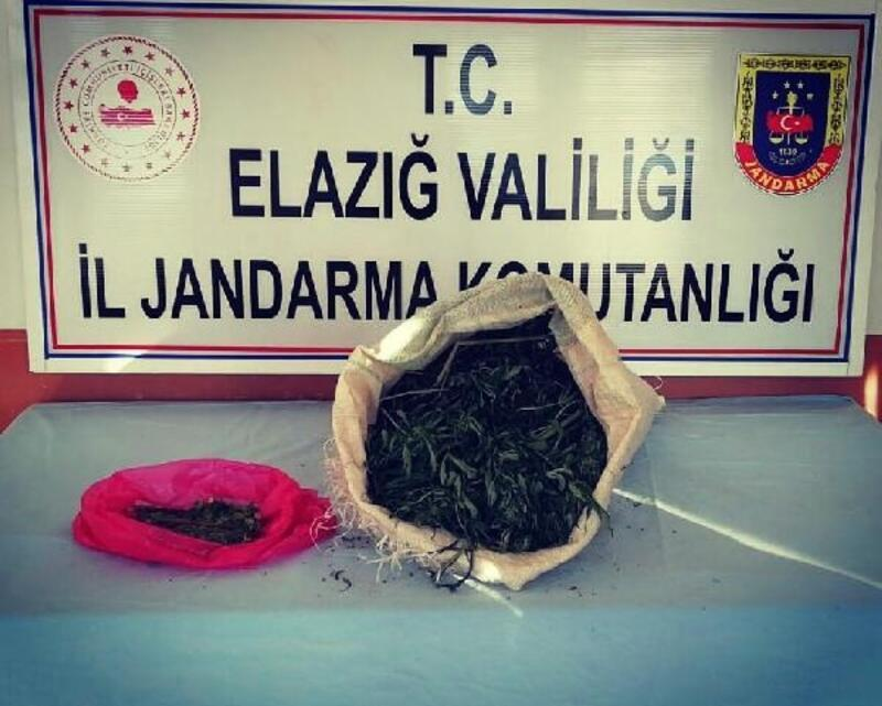 Elazığ'da 2 kilo esrar ele geçirildi