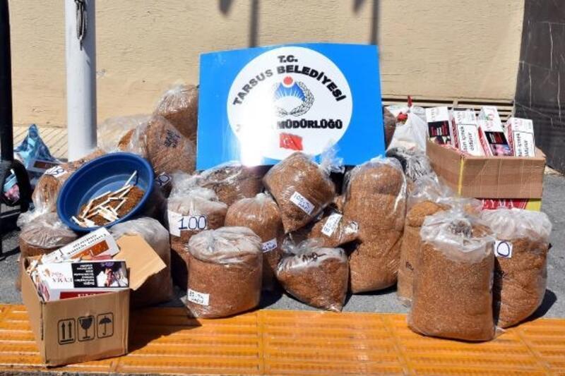 650 kilo kaçak tütün imha edildi