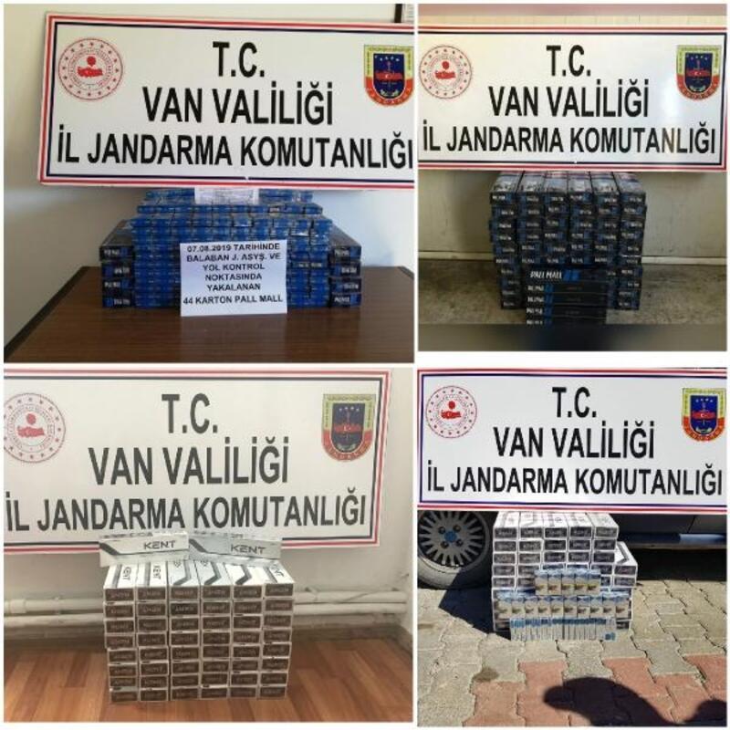 Van'da 800 paket kaçak sigara ele geçirildi