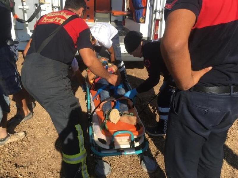 İlaçlama makinesinin şaftına saçlarını kaptıran genç kız yaralandı