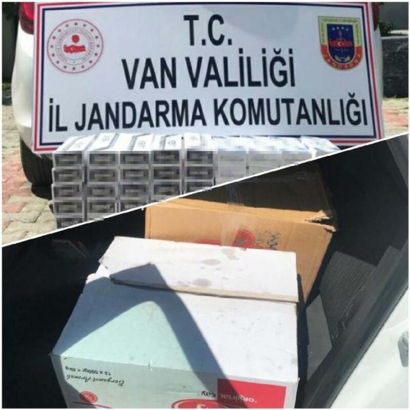 Van'da çay kutularından kaçak sigara çıktı