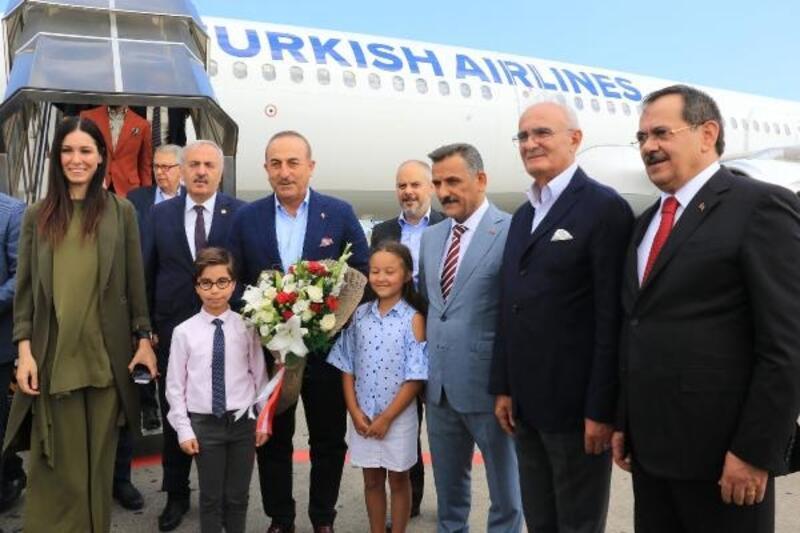 Bakan Çavuşoğlu, 110 büyükelçi ile birlikte Samsun'da