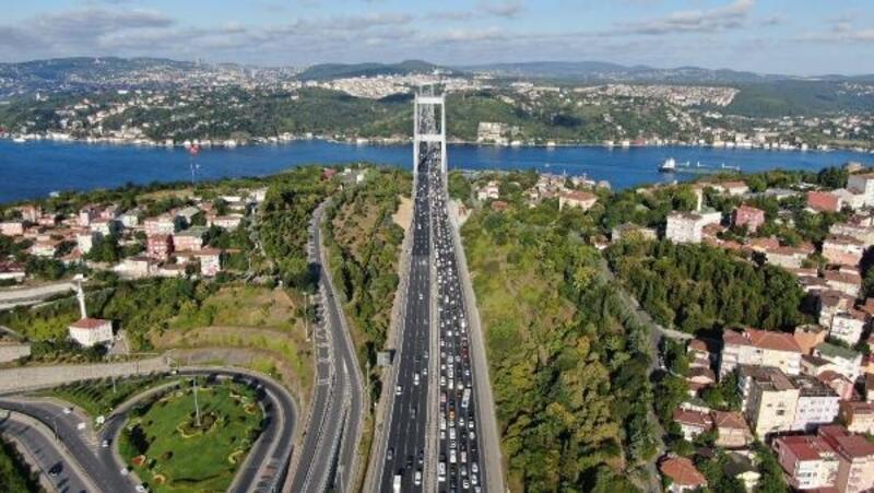 İstanbul'da bayram tatili trafiği yoğunluğu