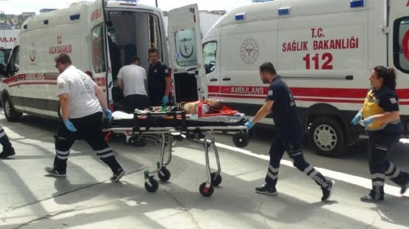 5'inci kattan düşen Emin Yasid, yaralandı