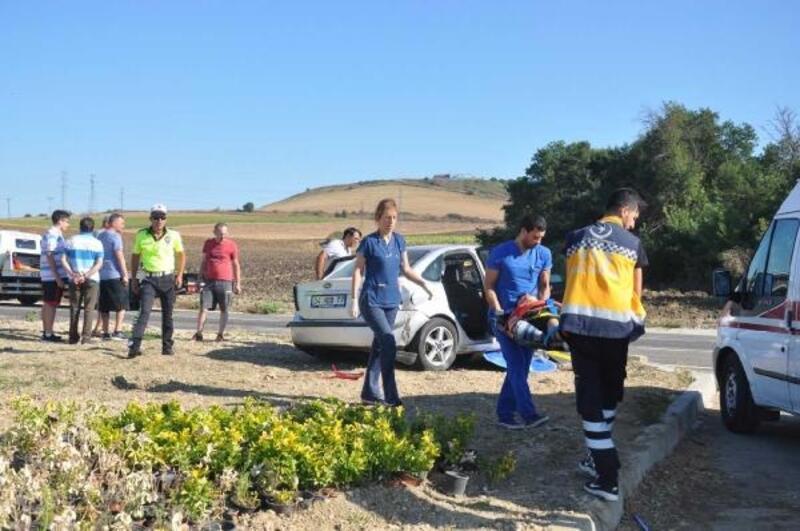 Tekirdağ'da kaza: 2'si çocuk 3 yaralı