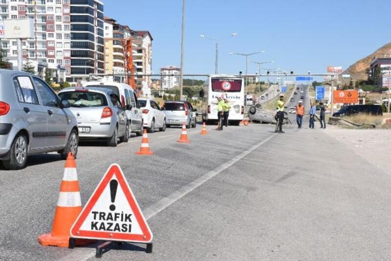 Kırıkkale'de zincirleme kaza: 1 yaralı