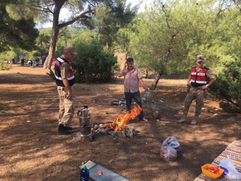Jandarma, piknikçileri orman yangınına karşı uyardı