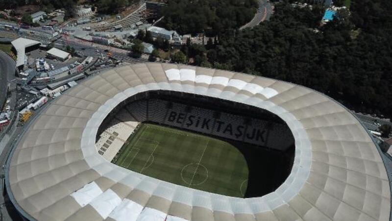 Süper kupa öncesi stat ve çevresindeki son durum havadan fotoğraflandı