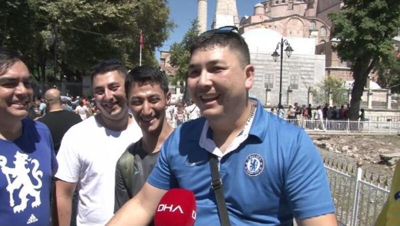Tarihi Yarımada'da esnafın Süper Kupa heyecanı