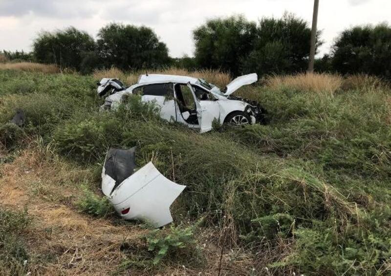 Kontrolden çıkan otomobil hurdaya döndü: 6 yaralı