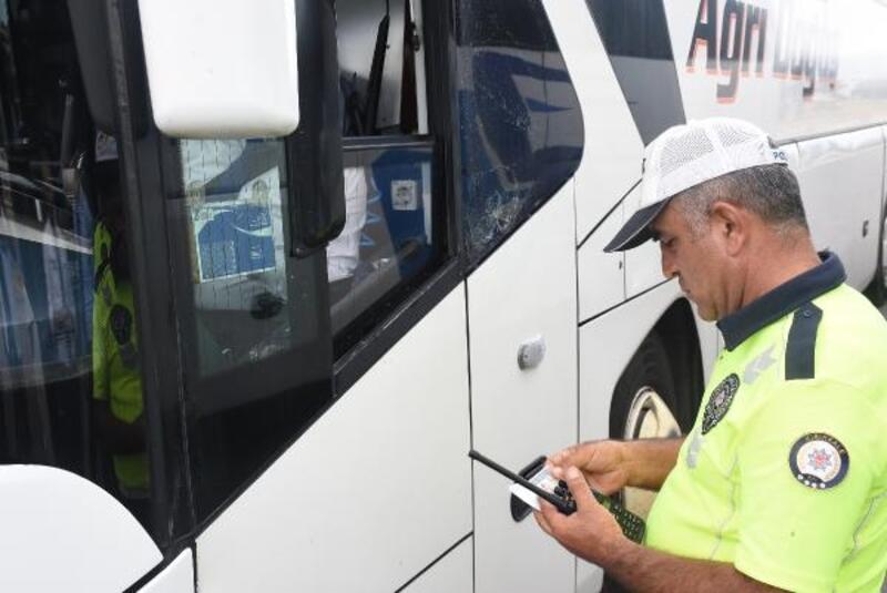 Kırıkkale polisinden otobüslerde 'takograf' denetimi
