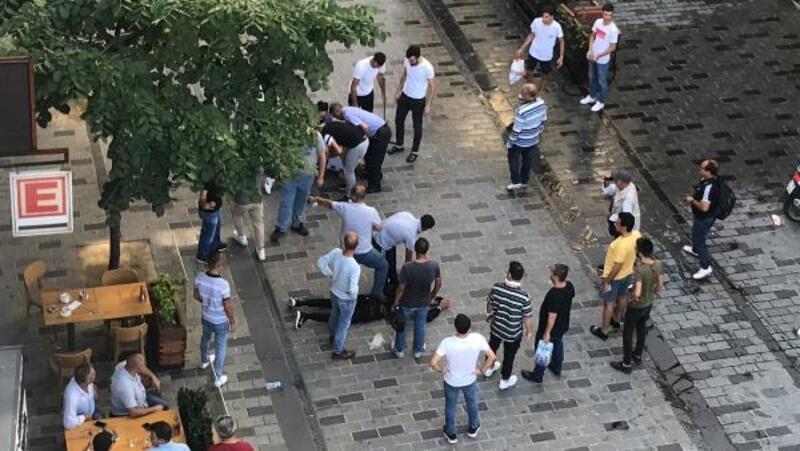 Taksim'i karıştıran kavga