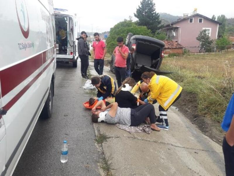 Karabük'te 'yağmur' kazaları: 22 yaralı