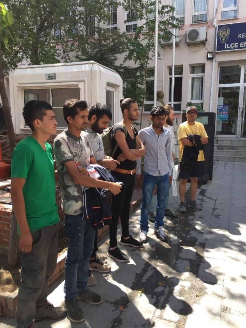 Keşan'da 7 kaçak göçmen yakalandı