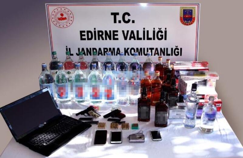Keşan'daki kaçak içki operasyonunda 2 tutuklama