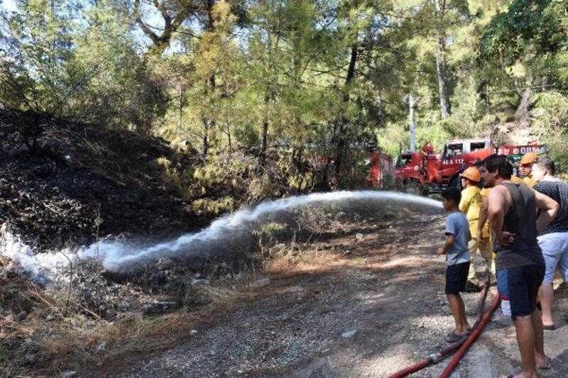 Marmaris'te ormanlık alanda 1 gün arayla 2'nci yangın