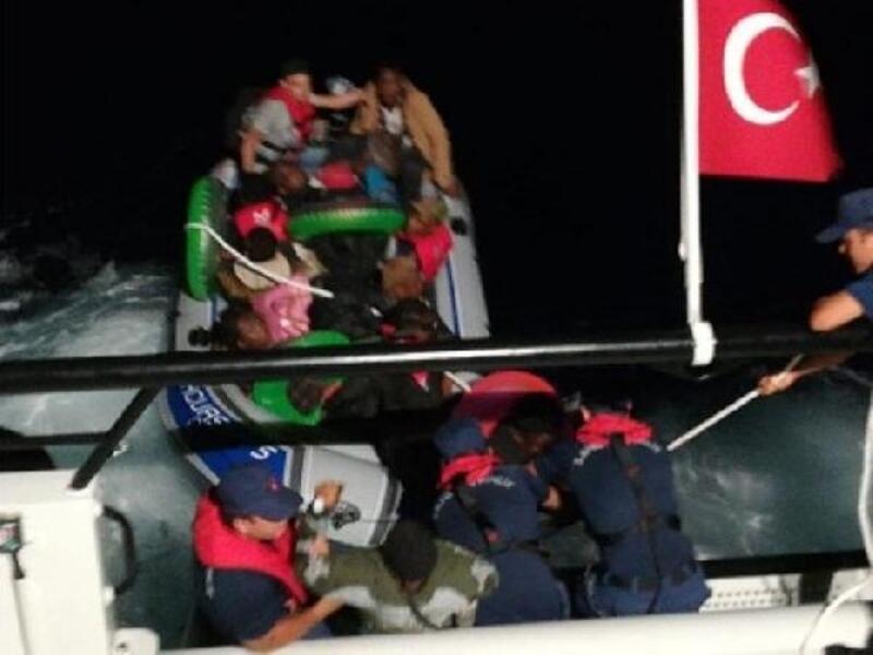 Bodrum açıklarında 11 kaçak göçmen yakalandı