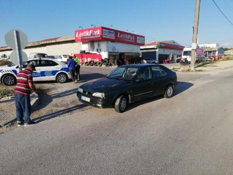 Otomobilin çarptığı yaya yaralandı