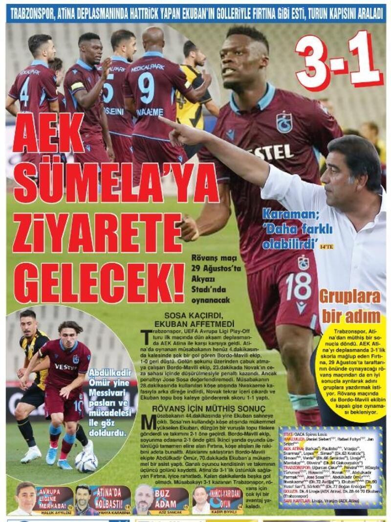 Trabzon yerel basını: AEK Sümela'ya ziyarete gelecek