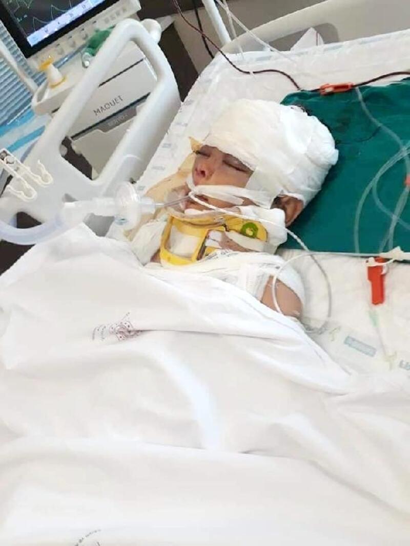 Uçurumdan yuvarlanan bisikletteki 3 çocuk yaralandı