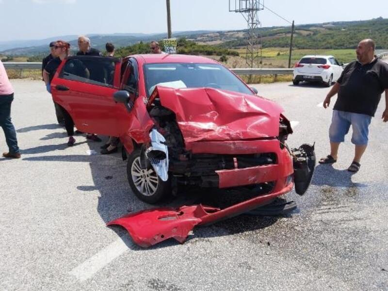 Tekirdağ'da kaza, 1'i trafik polisi 6 kişi yaralandı