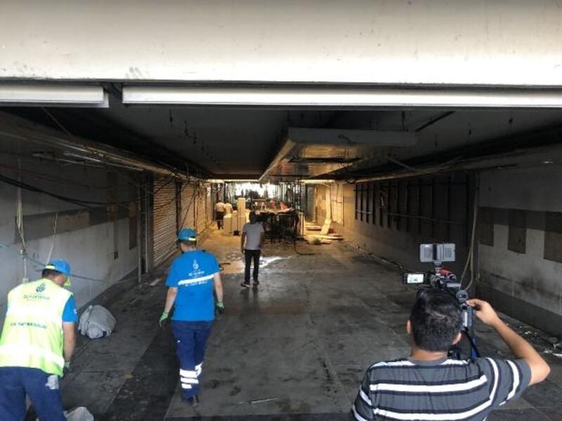 Eminönü'nde sel felaketinin üzerinden 1 hafta geçti; Onarım çalışmaları sürüyor