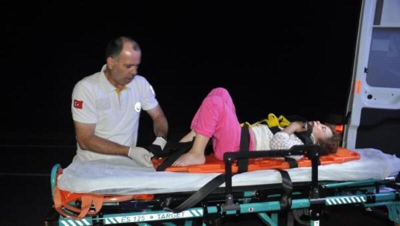 Kazada yaralandı, 'Önce çocuklarıma bakın, ben iyiyim' dedi