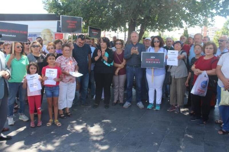 Sivas'ta, Emine Bulut cinayeti protesto edildi