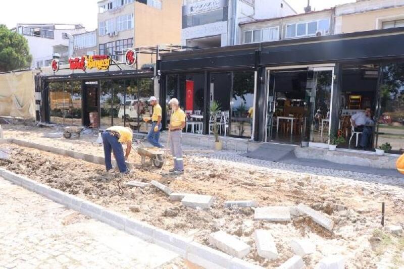 Mihenk Sokak'ta düzenleme ve peyzaj çalışmalarına başlandı