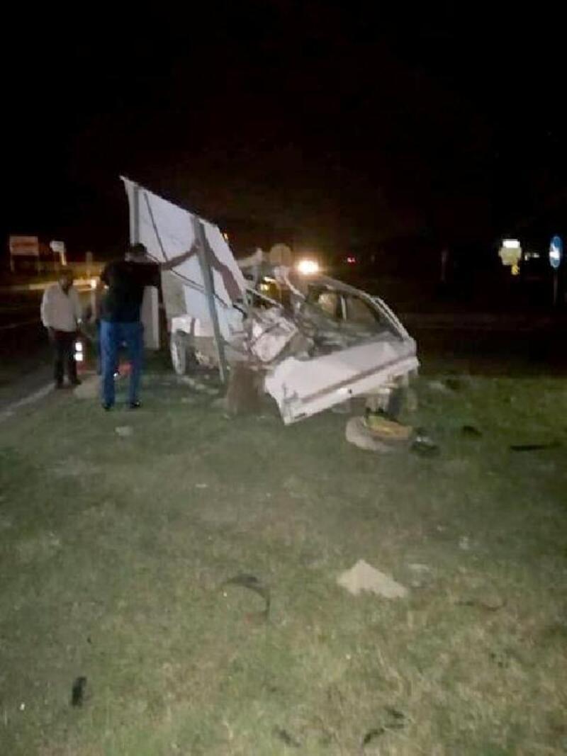 Sakarya'da iki otomobil çarpıştı: 1 ölü, 3 yaralı