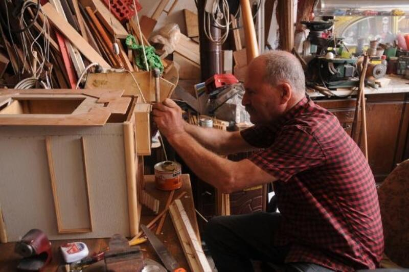 Tarihi Mudanya evlerinin minyatürünü yapıyor