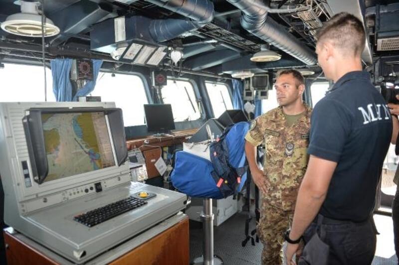 İtalya askeri eğitim gemisi İstanbul'da