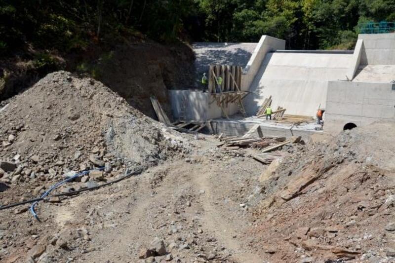 Karacabey'de Gölecik Barajı'nın inşaatı hızla devam ediyor