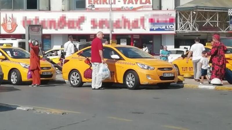 Otogarda taksilere denetim